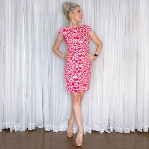 Alyx Dresses - Pink and White Tailored Contemporary Work Dress